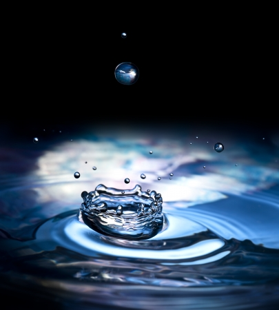 water drops and splash - macro photography  photo