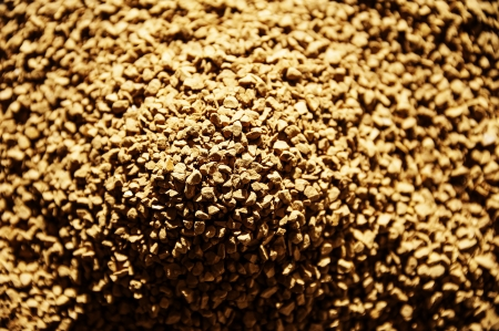 instant coffee in detail - macro photo