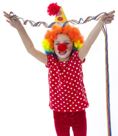 clown on a  white background Stock Photo - 18259176