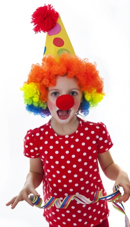 clown isolated on white background photo