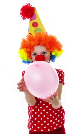 a happy little clown - portrait photo