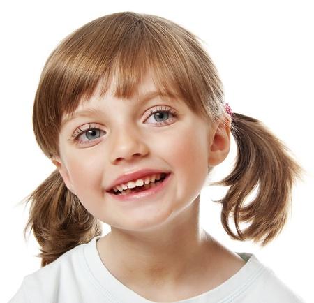 envisage: a portrait of a happy little girl Stock Photo