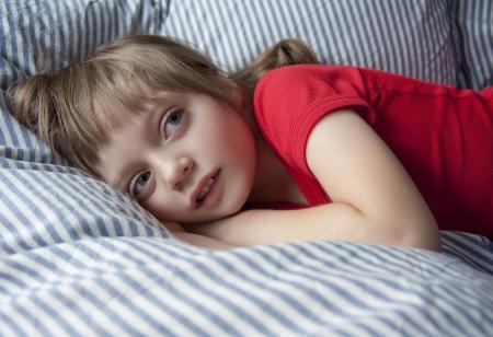 little girl afraid of the dark  photo