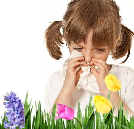 hay fever - allergic child photo