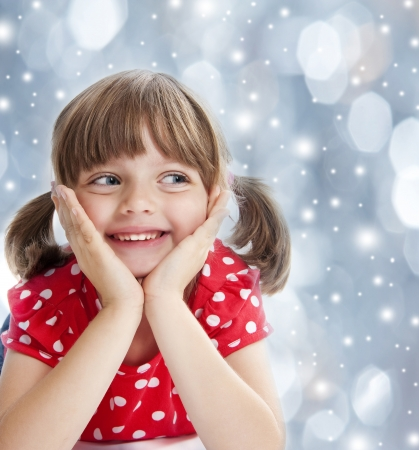 envisage: happy little girl Stock Photo