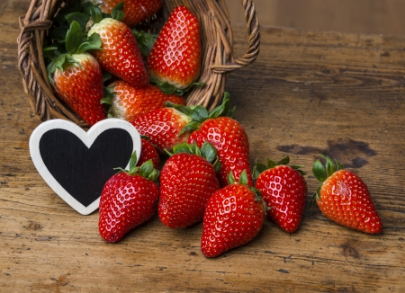 fresh garden strawberries photo