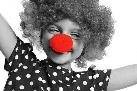 little clown with red nose photo