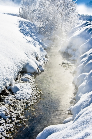 coldness: winter river
