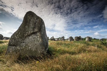 megaliths: megaliths in Carnac France Stock Photo