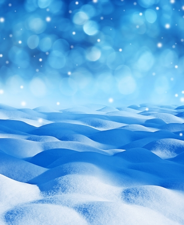 snow background with empty space photo
