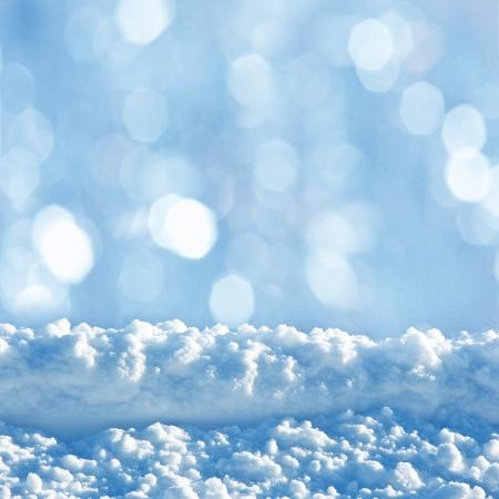 snowy background: fondo cubierto de nieve con un espacio vac�o Foto de archivo