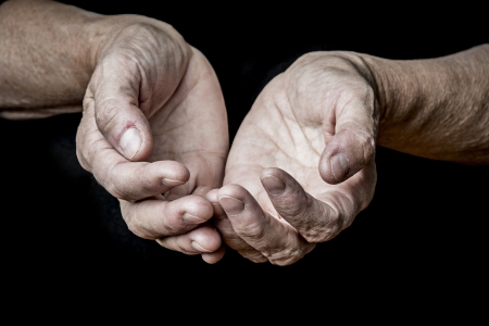 old elderly hands  photo