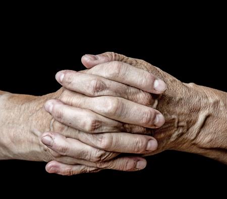 old senior hands photo