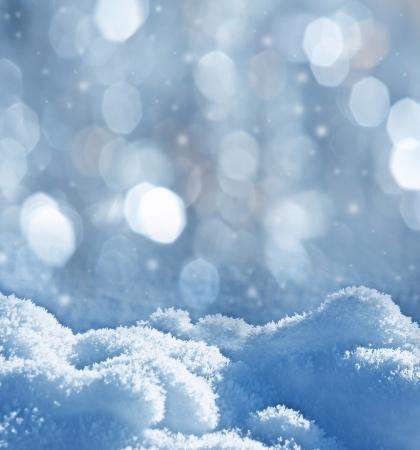 雪 - テキストのための空のスペースで織り目加工の背景 写真素材