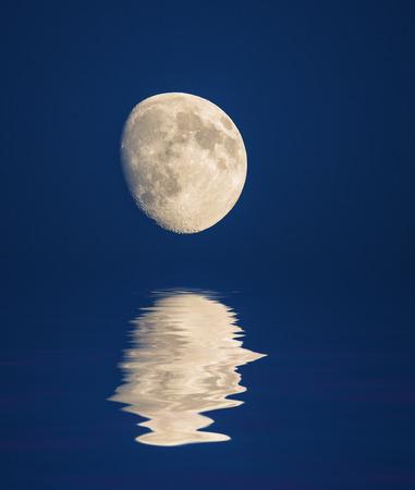 moon an mirroring photo