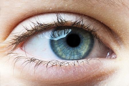 ojos azules: ojo del ni�o