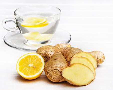 cup of ginger tea Standard-Bild