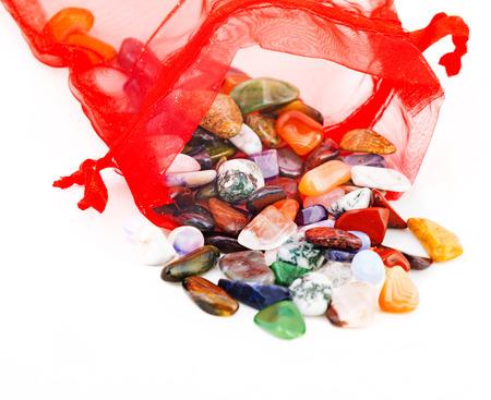 semiprecious: collection of semiprecious natural stones