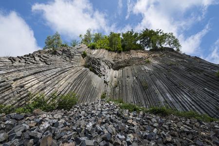 basalt: Basalt rock (Zlaty vrch, Czech republic) Stock Photo