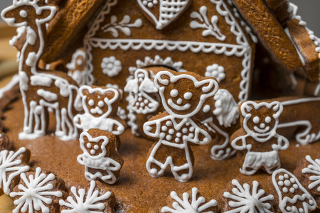 gingerbread house: gingerbread house in detail