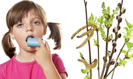 respire: little girl with inhaler - respiratory problems