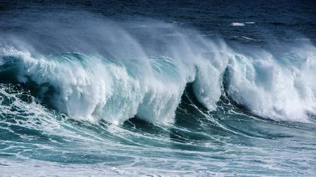 grande vague de la mer Banque d'images