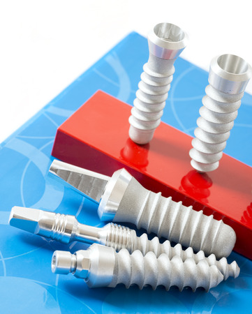 implants: dental implants close up in detail