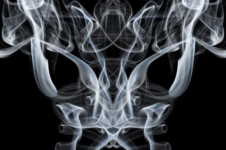 abstract smoke: Smoke on a black background