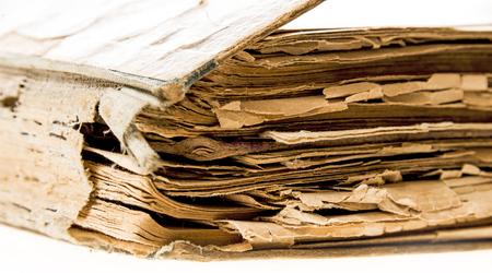 marca libros: viejo libro - textura de papel viejo con detalle Foto de archivo
