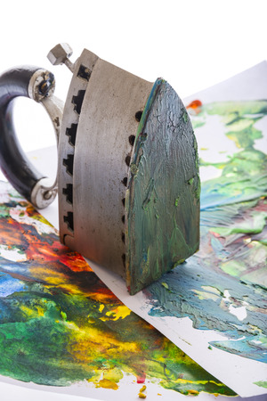 encaustic: an encaustic colors and iron for encaustic art
