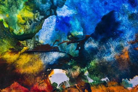 encaustic: an encaustic colors - texture on a paper Stock Photo