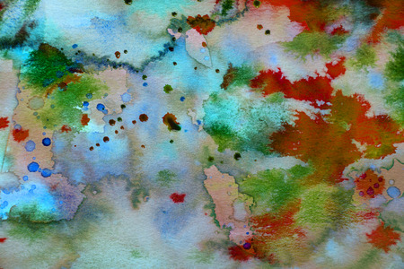 watercolors on a paper - an aquarelle texture Stock Photo