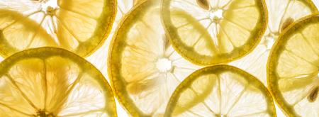 slices of lemon - macro detail