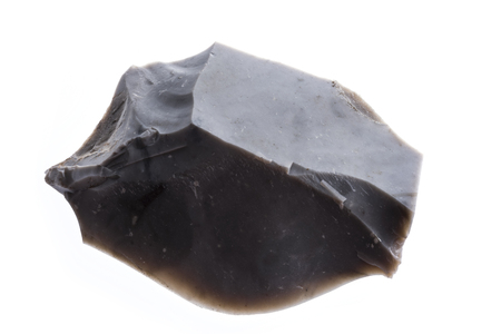tool made from flintstone close up - experimental archeology