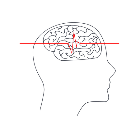 Silhouette of a human head Illustration