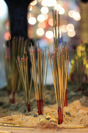 Incense is aromatic biotic material which releases fragrant smoke when burned photo