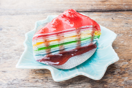 multi layered: Crepe Cake Rainbow