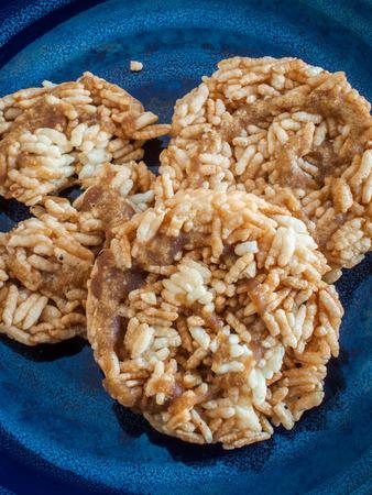 Khao Taen Lanna style thai cookies Reklamní fotografie