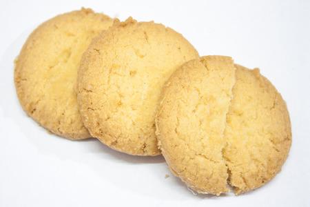 sur fond blanc: Cookie sur fond blanc Banque d'images