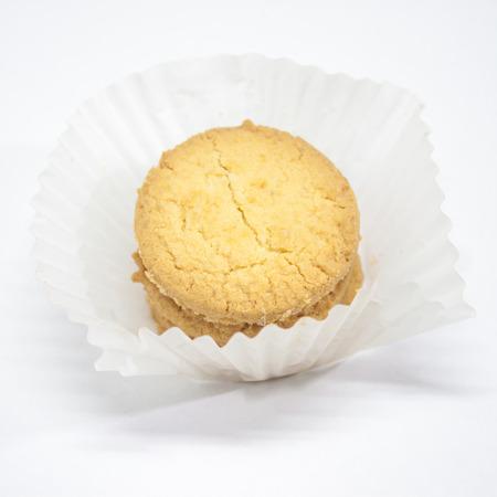 witte achtergrond: Cookie op witte achtergrond