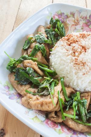 chai: Tofu Pad Thai celery or Khuen Chai Stock Photo