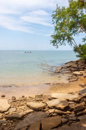 Susan Hoi (Fossil Shell Beach Cemetery) Beach sea view in Krabi Thailand
