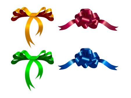 Fine colored ribbon Illustration