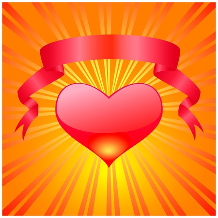 Valentines day heart  on a bright background