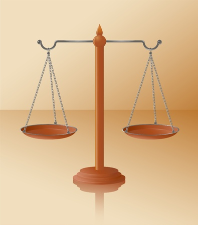Vector illustration of  justice balance scale