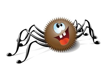 Nette lächelnde Spinne Blick nach oben Vektorgrafik