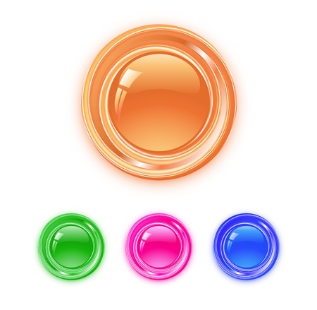 shiny buttons: Shiny round buttons of different colors Illustration