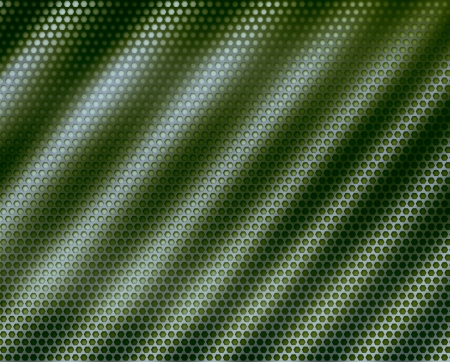Background green texture of wavy cellular surface