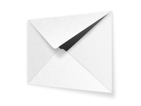 Envelope made of an embossed paper