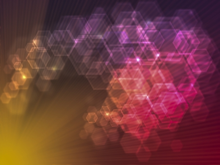 Abstract geometrical  bokeh background Stock Photo